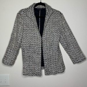 Lafayette 148 black and white tweed jacket